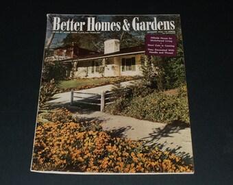 Vintage Better Homes and Gardens Magazine August 1944--Art-Scrapbooking-Crafts
