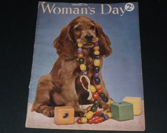 Vintage Womans Day Magazine February 1941-Art-Collectible-Vintage Ads- Scrapbooking