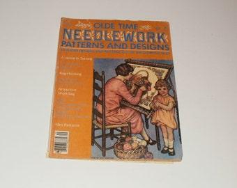 Vintage September 1978 Olde Time NeedleWork Patterns and Designs Magazine - Tatting - Knitting