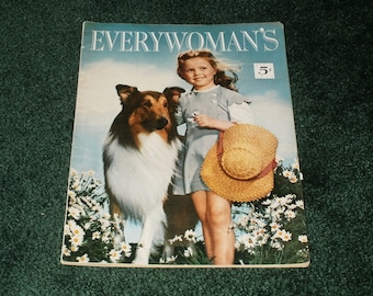 Vintage Everywomans Magazine April 1951 - Eye Catching Cover - Vintage Ads Paper Ephemera Scrapbooking