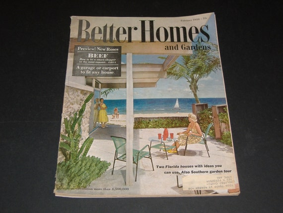 Vintage Better Homes And Gardens Magazine February 1958 Art