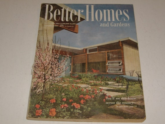 Vintage better homes and gardens magazine september 1953 for Better home and garden magazine