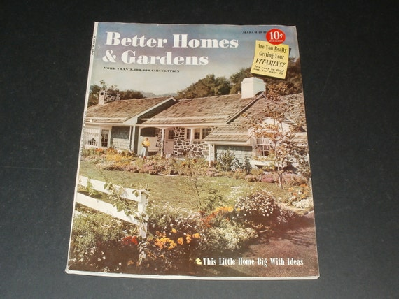 Vintage Better Homes and Gardens March 1941-Vintage Ads-Retro Collectible