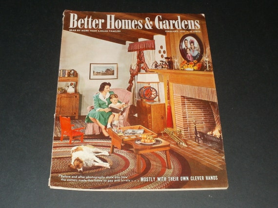 Vintage Better Homes And Gardens Magazine February