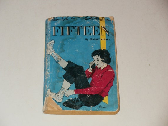 Fifteen by Beverly Cleary Vintage 1962 Paperback Book-Fiction-Retro-Illustrated