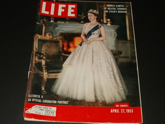 Vintage Life Magazine April 27 1953 - Covers Are Loose - Queen Elizabeths Coronation - Vintage Retro Ads Scrapbooking