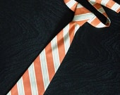 Little Boys Tie - Orange Stripes