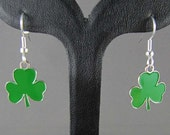 St Patrick's Day Shamrock Earrings