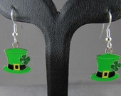 St Patrick's Day Leprechaun Hat Earrings