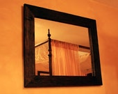Rustic Framed Mirror 30 x 36 Java - Handmade