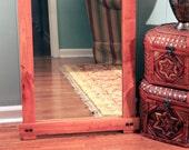 Rustic Cherry Full Length or Floor Mirror, Gloss Clear Coat Finish, 24 x 72 - Handmade