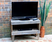 TV Stand.  TV Stand Rustic.  Media Cabinet.  Reclaimed Wood TV Stand. Rustic Media Center. Media Console. 35 w x 14 d x 25 t.  Unfinished.