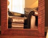 Framed Floor Mirror, Chocolate Brown Finish, 30 x 65 - Handmade