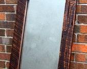 Full Length Reclaimed Wood Framed Mirror, Chocolate Brown, 18 x 54 - Handmade