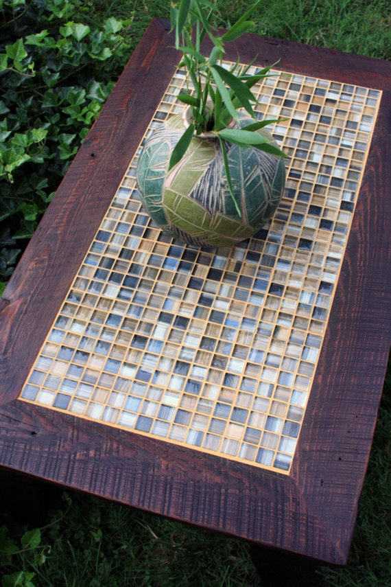 Coffee Table Mosaic Tile Coffee Table Reclaimed Wood Coffee