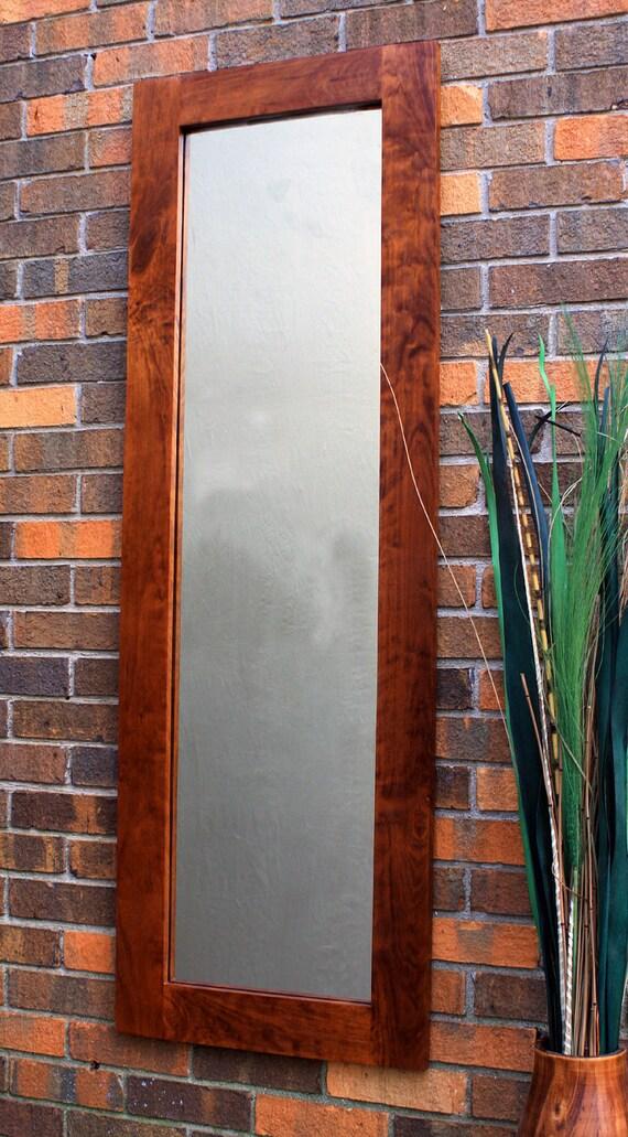 full length rustic cherry framed mirror by natureinspiredcrafts. Black Bedroom Furniture Sets. Home Design Ideas