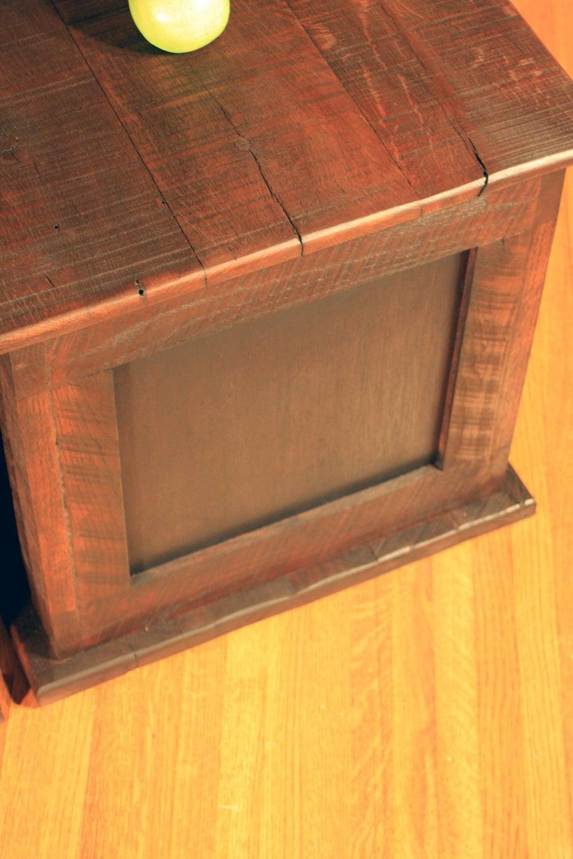 Storage Cube Coffee Table Reclaimed Wood Rustic