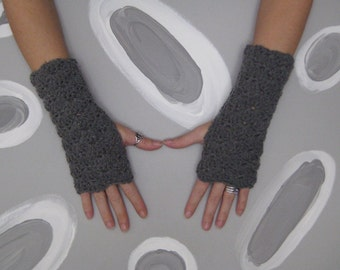 Zoe Wrist Warmers - Grey - pick your color