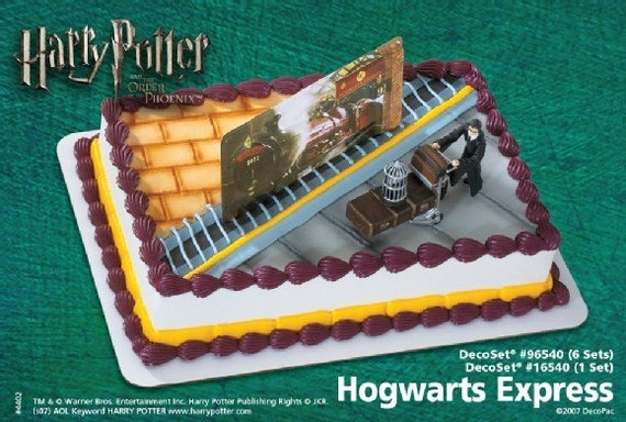 Harry Potter Cake Decorating Kit Topper : Harry Potter Hogwarts Express Cake Topper Kit