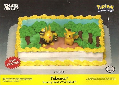 POKEMON Pikachu and Elekid Cake Topper Kit