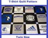 Tshirt Quilt Pattern PDF - E-Book - How to Make a T-Shirt Quilt - Twin Size