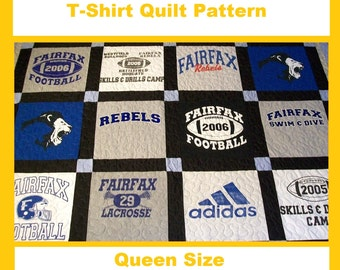 T Shirt Quilt Pattern Book : Tshirt Quilt Pattern PDF E-Book How to Make a T-Shirt