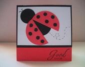 Ladybug for Luck handmade card