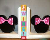 SALE..Custom Woodwork..MICKEY or MINNIE Inspired Bookends
