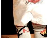 Ready to Ship Sz 6 Mo Rockstar Baby Boy Boxer Shorts Great for Photo Shoots, Birthdays, Holidays and Lounging
