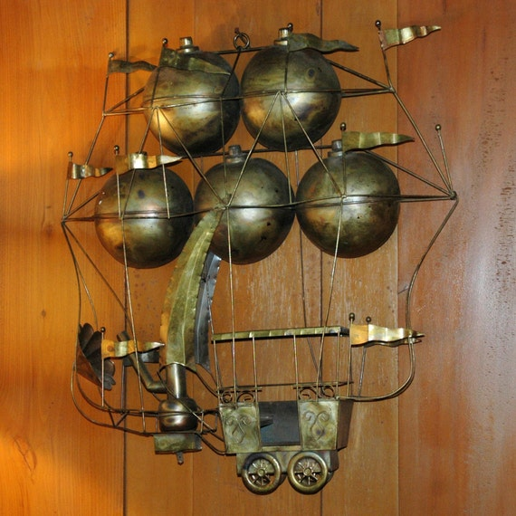 Brass steampunk airship steampunk home decor for Brass home decor