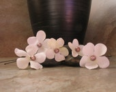 Cherry Blossom Hair Pins w\/Freshwater Pearls - Set of 5