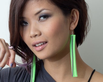 neon zipper earrings