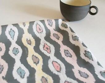 Aztek stripe - charcoal grey -  Cotton Fabric