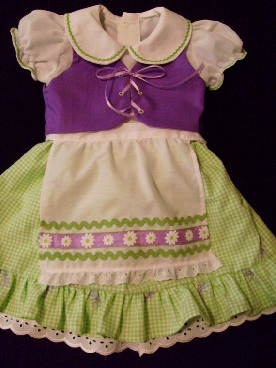 OOAK Boutique Octoberfest Inspired Dirndl Party Dress Outfit Size 4