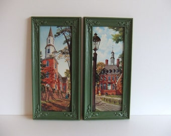 Vintage Lithograph prints Drummond wall hanging pictures