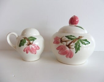 Vintage Sugar bowl, Salt and Pepper shaker