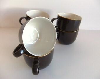 ON SALE vintage Brown Mugs, mikasa mugs transition cappuccino japan