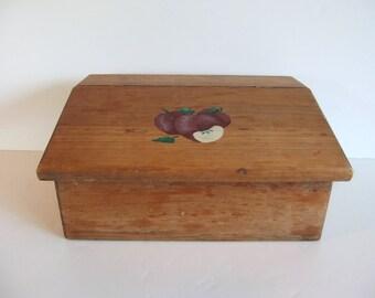 ON SALE wooden box letter box lap box