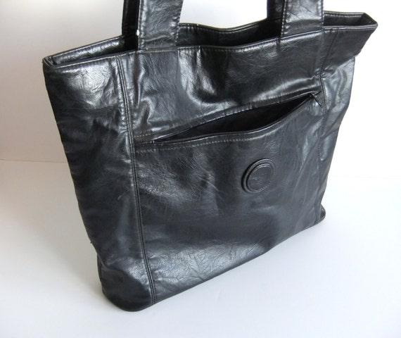 Vintage Black Should Bag // Laptop Bag //