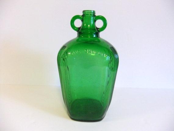 Vintage Green Glass Jug