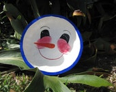 Happy Snowman Face Gourd Bowl