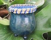 Handmade Blue Gourd Vase