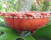Vibrant Red Gourd Bowl