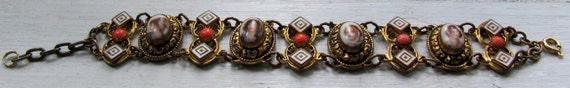 PRICE REDUCED Vintage Antique Gorgeous Intricate Women's Hand Painted Porcelain Bracelet, Superb Piece
