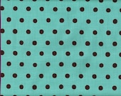 Aqua and Chocolate Dots from Echino Basics 1 Yard