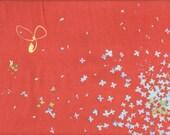 Nani Iro Fuwari Fuwari - Brushed Cotton - Persimmon - 1 yard 12 inches