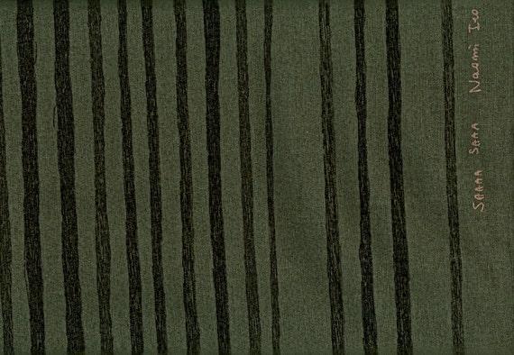 Nani Iro Saaaa Saaa Charcoal - Cotton Linen Canvas - 1 yard