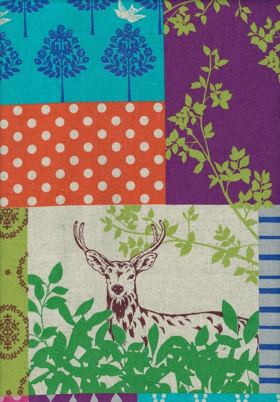 ECHINO - Fall 2011 - Forest - Red with Green Vines- 1 Yard