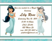 Disney's Jasmine-Aladdin Birthday Invitation