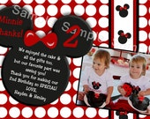 Minnie or Mickey Mouse Thank you cards